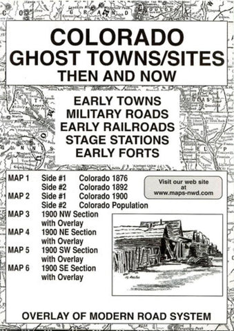 Buy map Colorado, Ghost Towns, 6-Map Set, Then and Now by Northwest Distributors