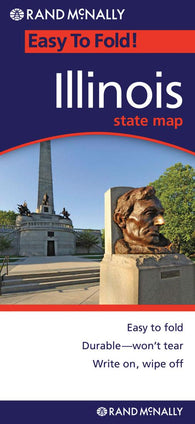 Buy map Illinois, Easy to Fold by Rand McNally