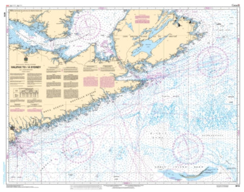 Buy map Halifax to/a Sydney by Canadian Hydrographic Service