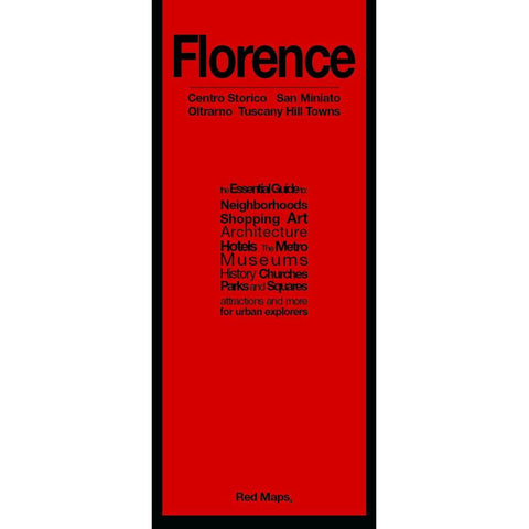 Buy map Florence, Italy: Centro Storico, San Miniato : Oltrarno, Tuscany Hill Towns by Red Maps