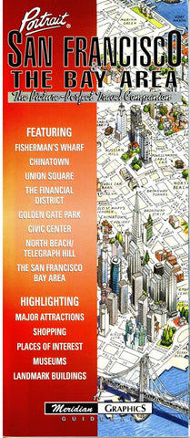 Buy map San Francisco, Calfornia and The Bay Area by Meridian Graphics