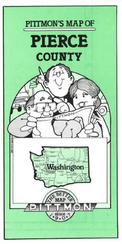 Buy map Pierce County, Washington by Pittmon Map Company