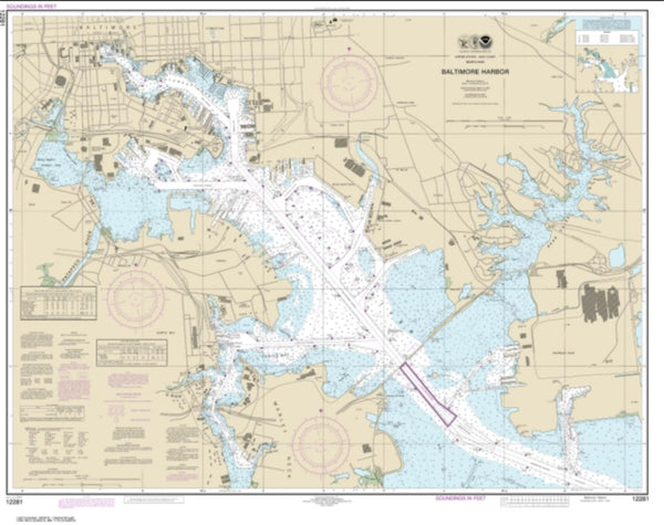 Buy map Baltimore Harbor (12281-55) by NOAA