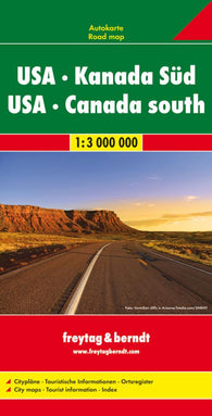 Buy map United States and Southern Canada, Road Map, 1:3,000,000 by Freytag-Berndt und Artaria