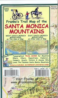 Buy map California Map, Santa Monica Mtns Trails, folded, 2007 by Frankos Maps Ltd.