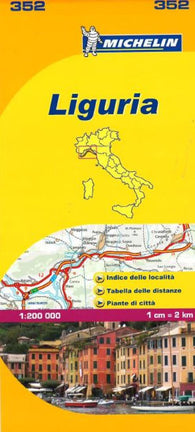 Buy map Liguria, Italy (352) by Michelin Maps and Guides