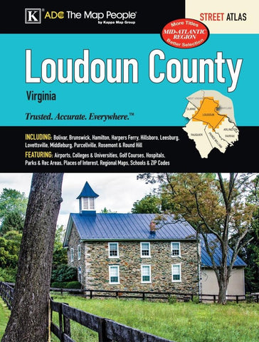 Buy map Loudoun County, Virginia, Atlas by Kappa Map Group