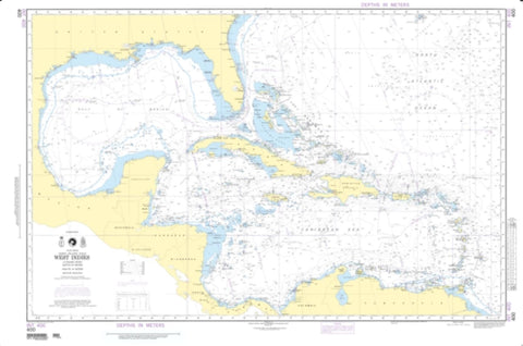 Buy map West Indies (NGA-400-3) by National Geospatial-Intelligence Agency