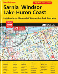 Buy map Sarnia, Windsor & Lake Huron Coast Street Atlas by Canadian Cartographics Corporation