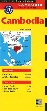 Buy map Cambodia by Periplus Editions