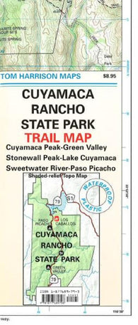 Buy map Cuyamaca Rancho State Park, California by Tom Harrison Maps