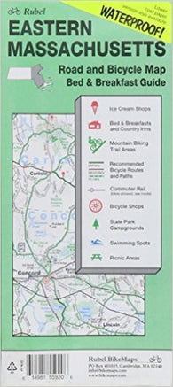 Buy map Massachusetts, Eastern, Road and Bicycle Map, waterproof by Rubel BikeMaps