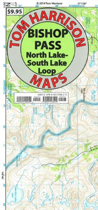 Buy map Bishop Pass, California by Tom Harrison Maps