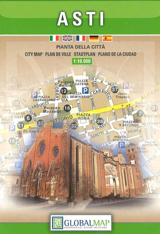 Buy map Asti, Italy by Litografia Artistica Cartografica