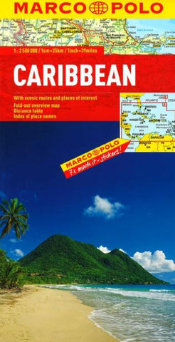 Buy map Caribbean by Marco Polo Travel Publishing Ltd