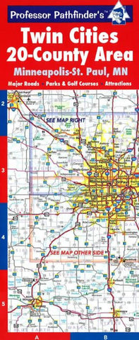 Buy map Twin Cities, Minnesota, Greater Metro Regional (20 Counties) by Hedberg Maps