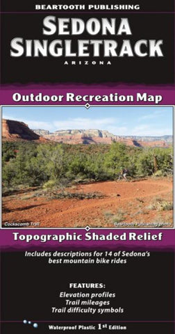 Buy map Sedona Singletrack, AZ by Beartooth Publishing