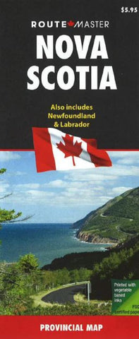 Buy map Nova Scotia and Newfoundland/Labrador by Route Master