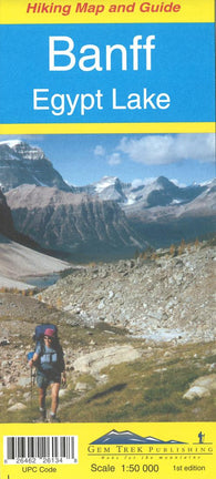 Buy map Banff, Egypt Lake Hiking Map and Guide by Gem Trek