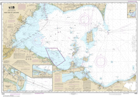 Buy map West End of Lake Erie; Port Clinton Harbor; Monroe Harbor; Lorain to Detroit River; Vermilion (14830-32) by NOAA