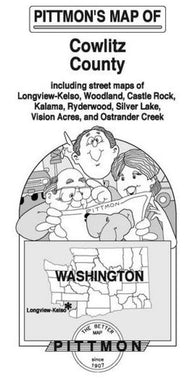 Buy map Cowlitz County, Washington by Pittmon Map Company