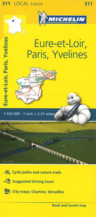 Buy map Michelin: Eure Et Loir, Paris, Yvelines, France Road and Tourist Map by Michelin Travel Partner