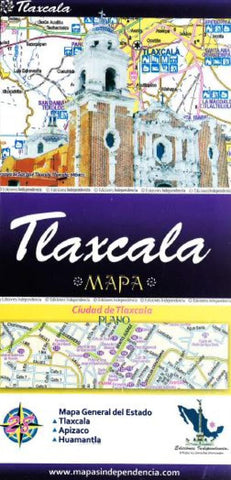 Buy map Tlaxcala, Mexico, State and Major Cities Map by Ediciones Independencia