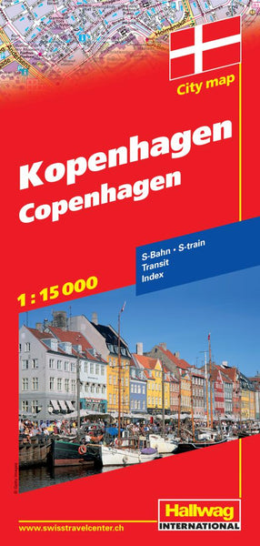 Buy map Copenhagen, Denmark by Hallwag