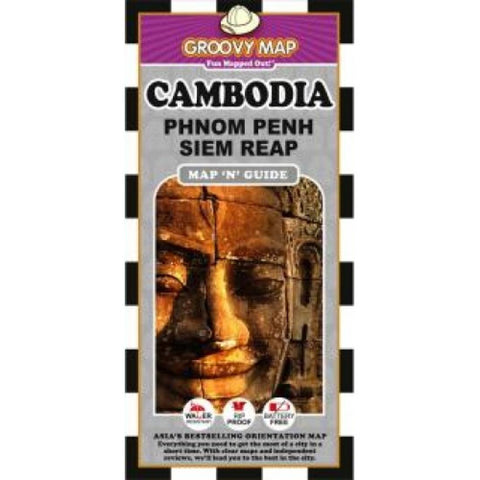 Buy map Cambodia, Phnom Penh and Siem Reap, Map n Guide by Groovy Map Co.