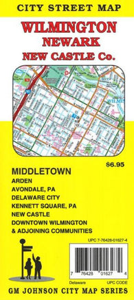 Buy map Wilmington, Newark, + New Castle Co, Delaware by GM Johnson
