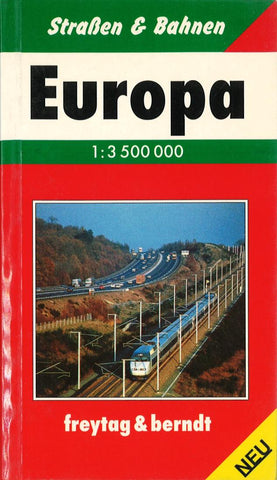 Buy map Europe, Pocket Road Atlas (German edition) by Freytag-Berndt und Artaria