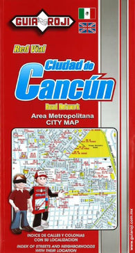 Buy map Cancun, Mexico, Metropolitan Area by Guia Roji