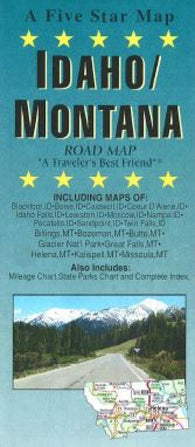 Buy map Idaho and Montana by Five Star Maps, Inc.