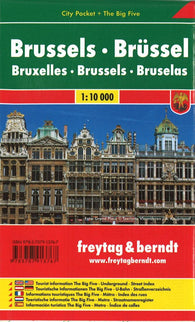 Buy map Brussels, Belgium, Pocket City Map + Big Five by Freytag-Berndt und Artaria
