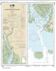 Buy map St. Marks River and approaches (11406-14) by NOAA