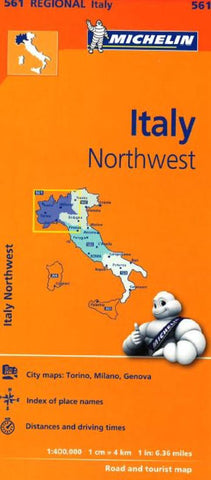 Buy map Italy, Northwest (561) by Michelin Maps and Guides