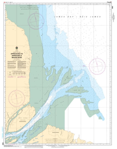 Buy map Approaches to/Approches a Moose River by Canadian Hydrographic Service
