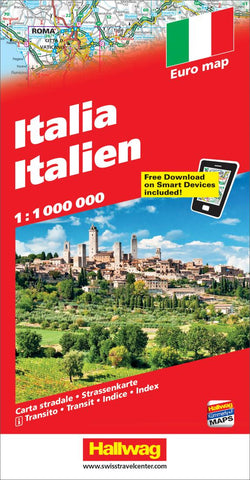 Buy map Italy with Distoguide by Hallwag