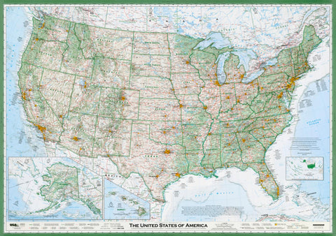 Buy map United States of America, The Essential Geography of the, laminated by Imus Geographics