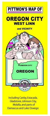Buy map Oregon City, Oregon Vicinity by Pittmon Map Company