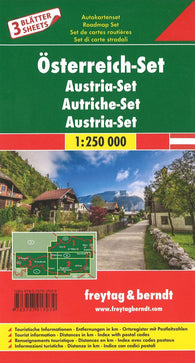 Buy map Austria Map Set of 3 by Freytag-Berndt und Artaria