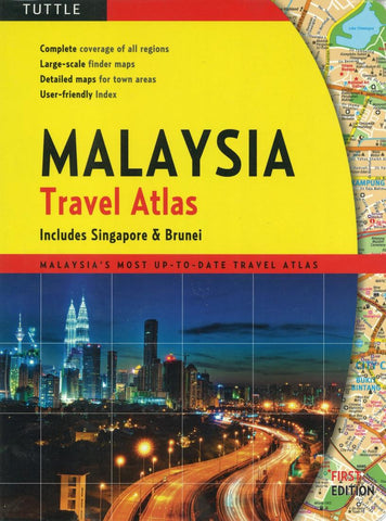 Buy map Malaysia Travel Atlas by Periplus Editions, Tuttle