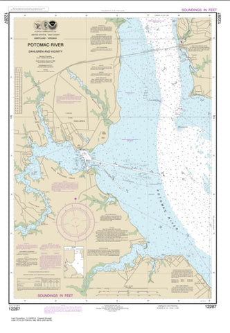 Buy map Potomac River Dahlgren and Vicinity (12287-19) by NOAA