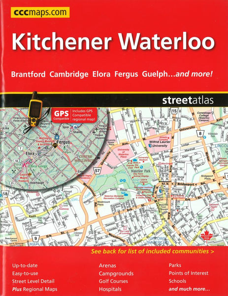 Buy map Kitchener and Waterloo, ON Street Atlas by Canadian Cartographics Corporation