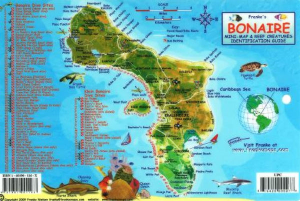 Buy map Caribbean Fish Card, Bonaire 2010 by Frankos Maps Ltd.