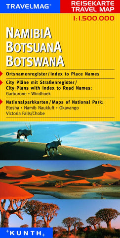 Buy map Namibia and Botswana by Kunth Verlag