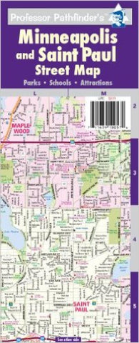 Buy map Minneapolis-St Paul, Minnesota by Hedberg Maps