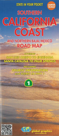Buy map California Coast, Southern and Baja Mexico, Northern by Global Graphics