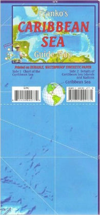 Buy map Caribbean Map, Caribbean Sea Guide, folded, 2011 by Frankos Maps Ltd.