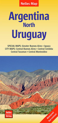 Buy map Argentina, North and Uruguay by Nelles Verlag GmbH